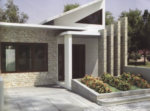 model batu alam untuk teras rumah - contoh model tiang teras dengan batu alam