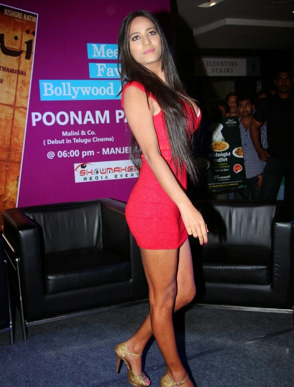 Poonam Pandey Hot Round Cleavage Exposed - Images-7738