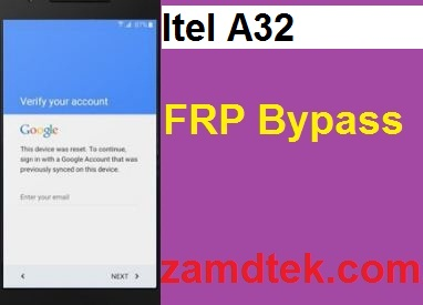 Itel A32 Hard reset, google reset and FRP bypass