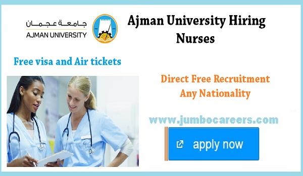 Ajman Nurses jobs for Indians, Current job vacancies in Ajman,