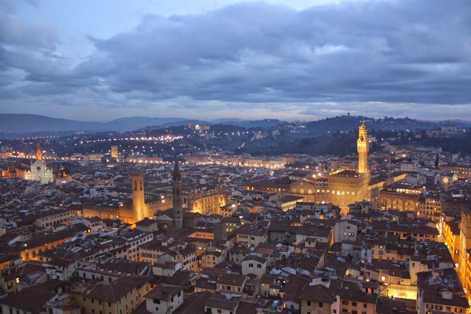 Vistas de Florencia desde lo alto de la cupula de Santa Maria del Fiore