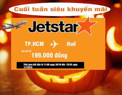 Jetstar khuyến mãi vé máy bay đi Huế giá chỉ 199.000 đồng