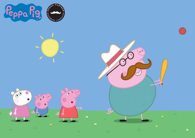 Health and fitness 'expert' Daddy Pig is joining in this Movember!