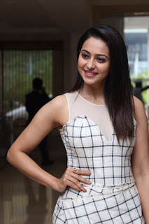 Rakul Preet Singh in Transparent Sleeveless dress at Spyder movie Press release