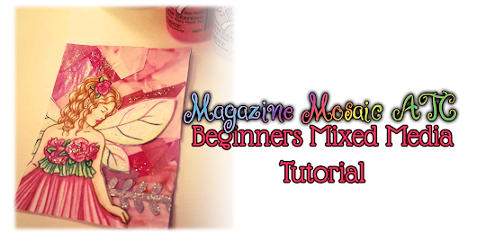 How to Create a Magazine Mosaic Mixed Media Artist Trading Card