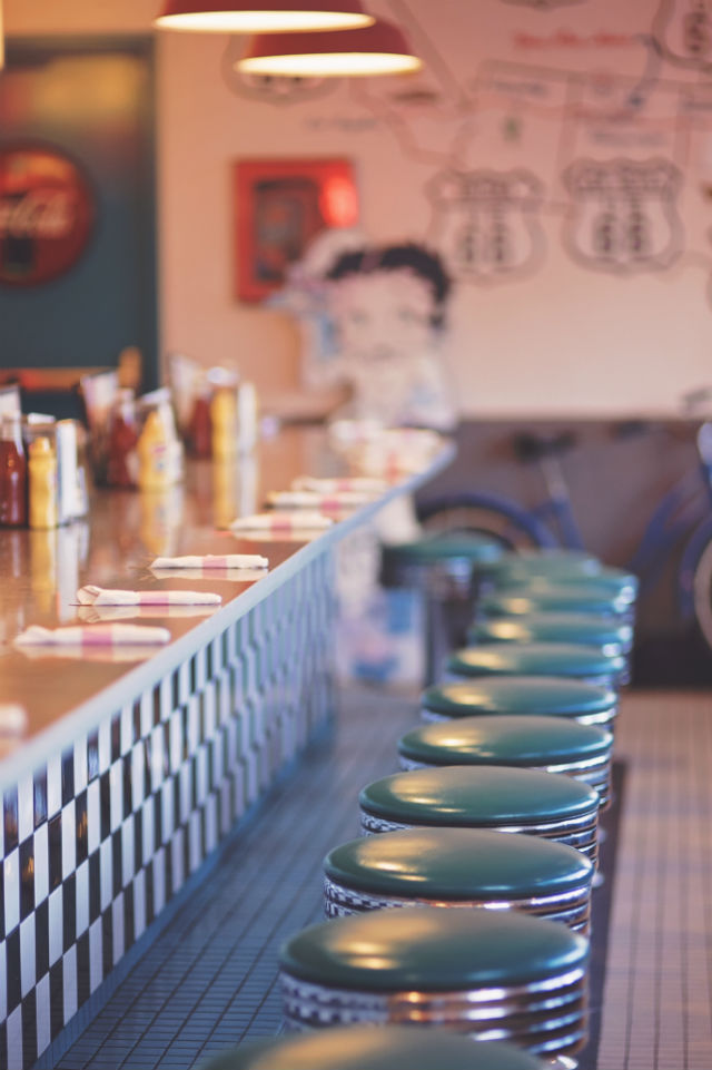 Decoración inspirada en los bares americanos