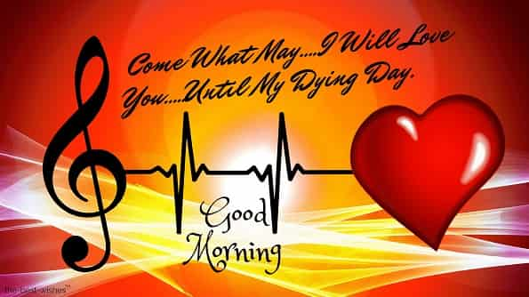 good morning my love with heartbeats