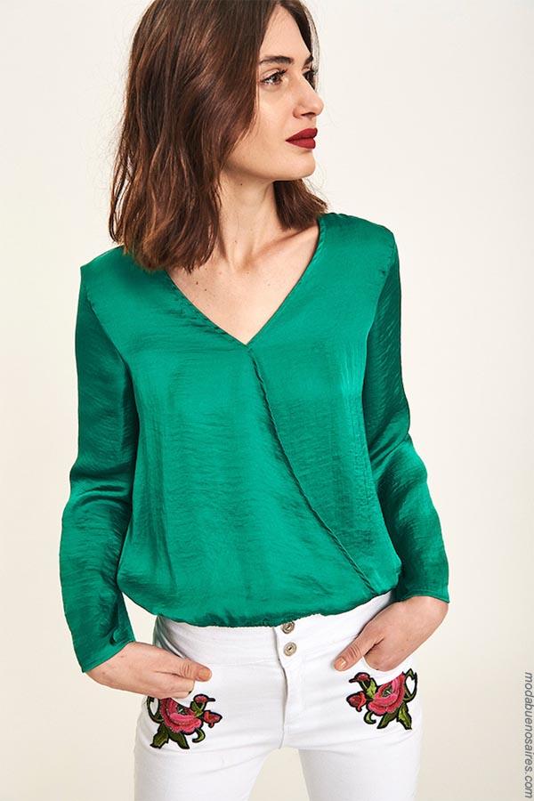 Camisas y blusas primavera verano 2019.