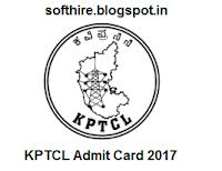 KPTCL Admit Card