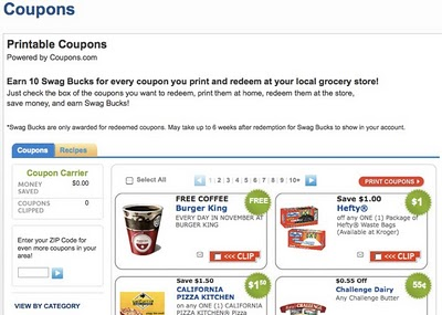 swagbucks coupons