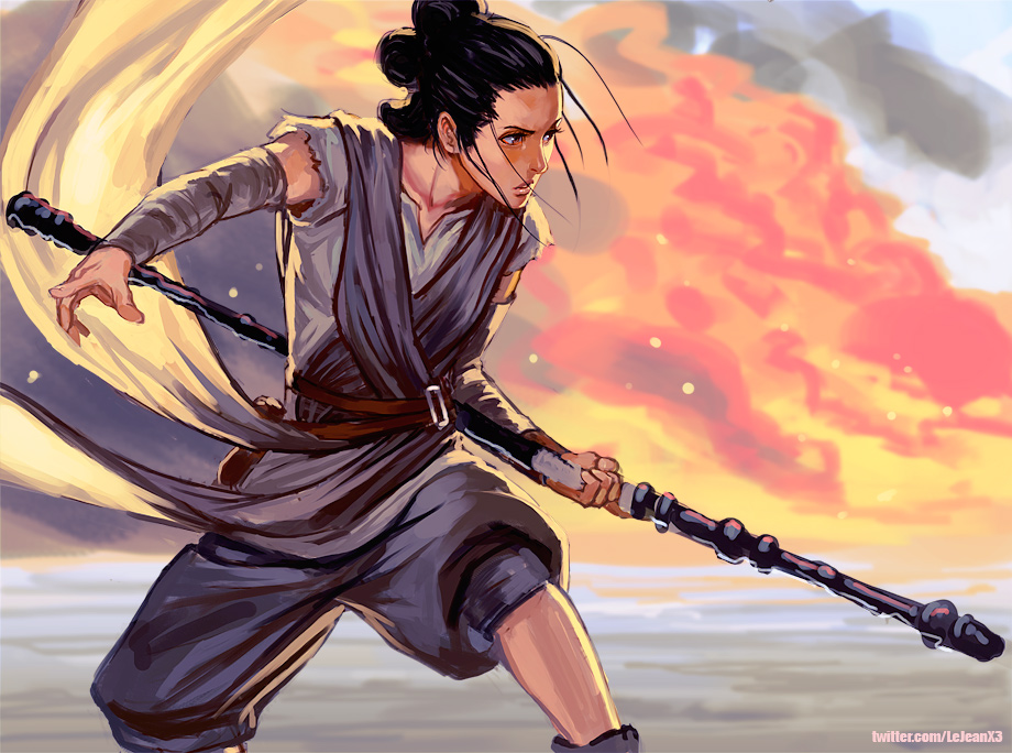 Fascinating Fanart Rey From Star Wars