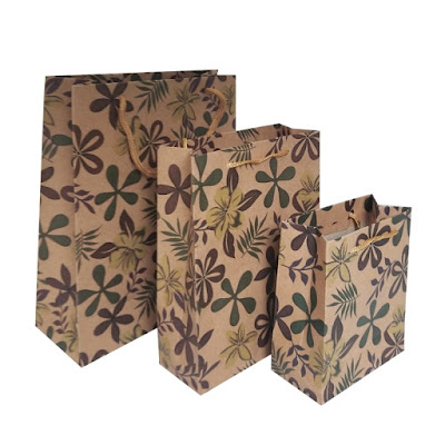 Shop Nile Corp Wholesale Dark Floral Kraft Paper Gift Bag