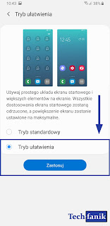 Samsung tryb ułatwienia gdzie go znaleźć