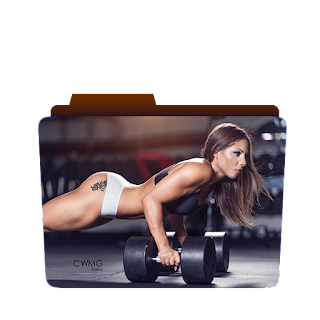 Preview of gym girl, workout, abs, folder icon