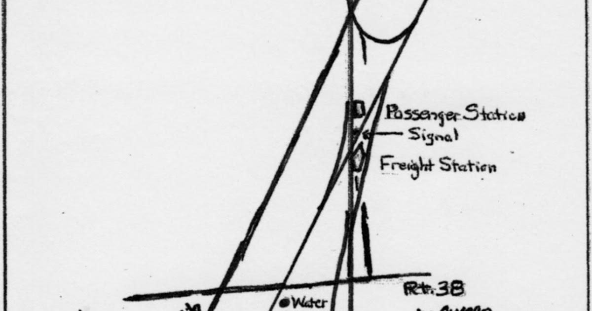 Vintage Railroad Pictures: Track diagram of Freeville, N.Y