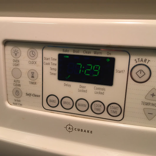 Timed Cooking on My Oven