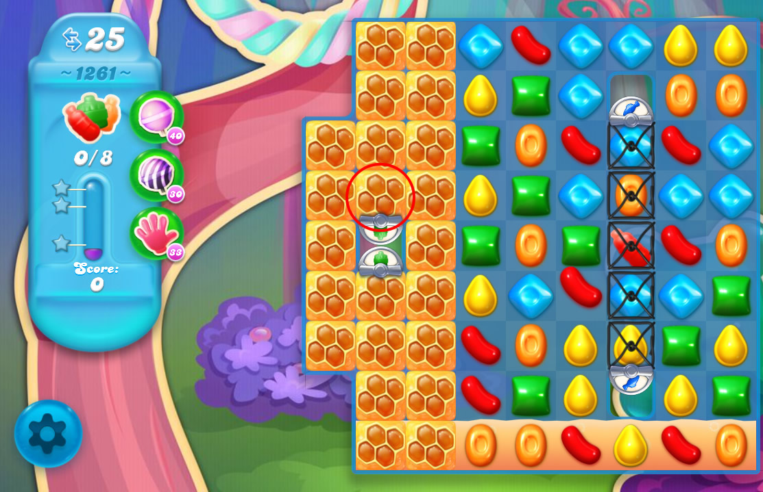 Candy Crush Soda Saga level 1261