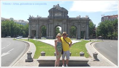 Madrid; Viagem Europa; Turismo na Espanha;Porta de Alcalá