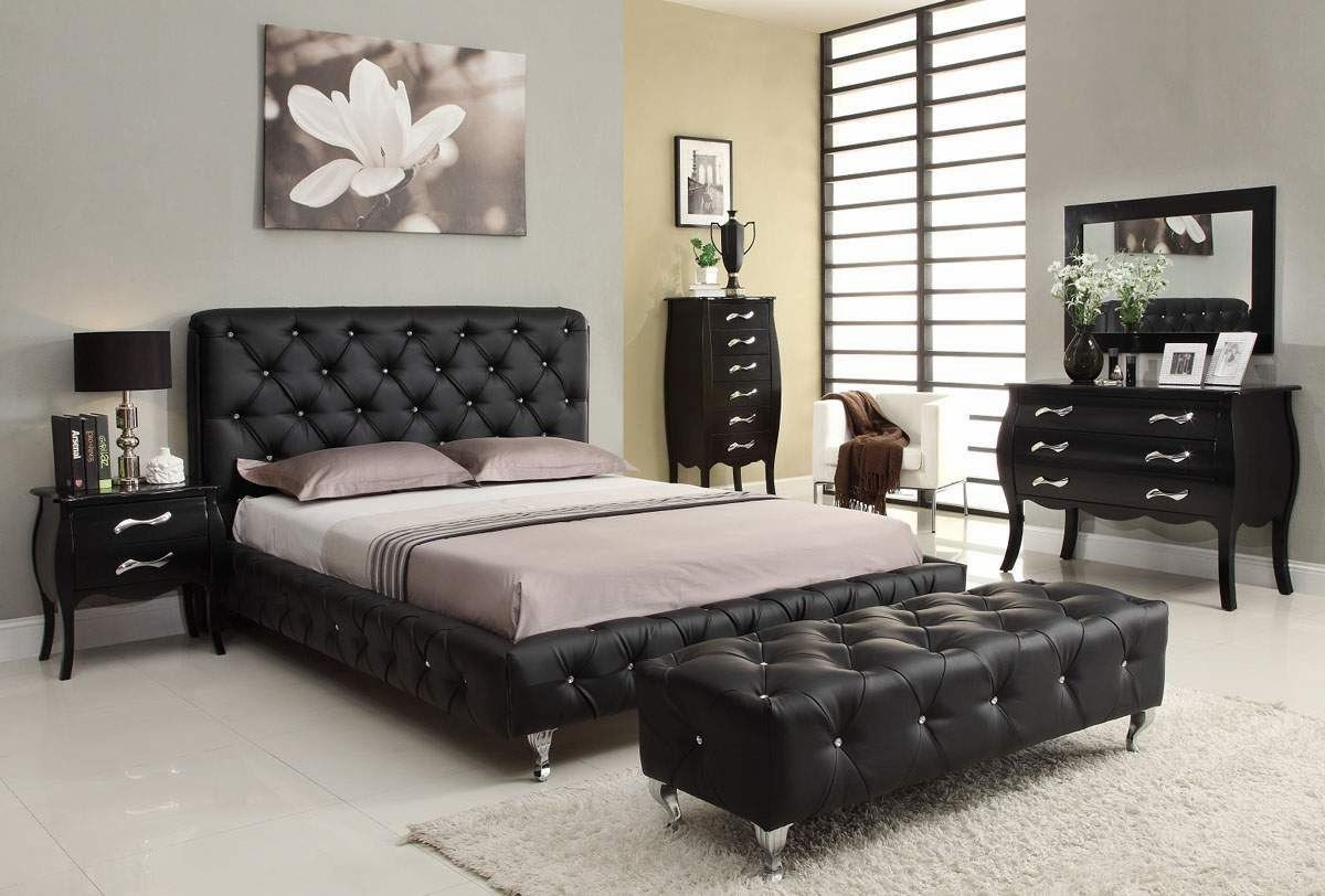 black bedroom suite decoration chambre italienne 10854