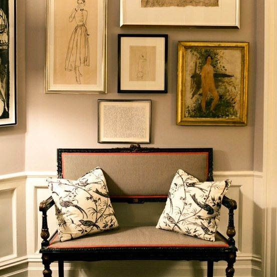 a touch of southern grace gallery wall inspiration. Black Bedroom Furniture Sets. Home Design Ideas