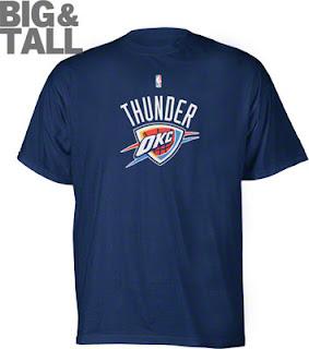 Big and Tall Oklahoma City Thunder Blue Logo T-Shirt