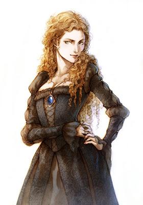 Ilustración de Ariadne realizada por la ilustradora Lehanan Aida para la novela de fantasía Títeres de la Magia de G. Parente y Selene M. Pascua