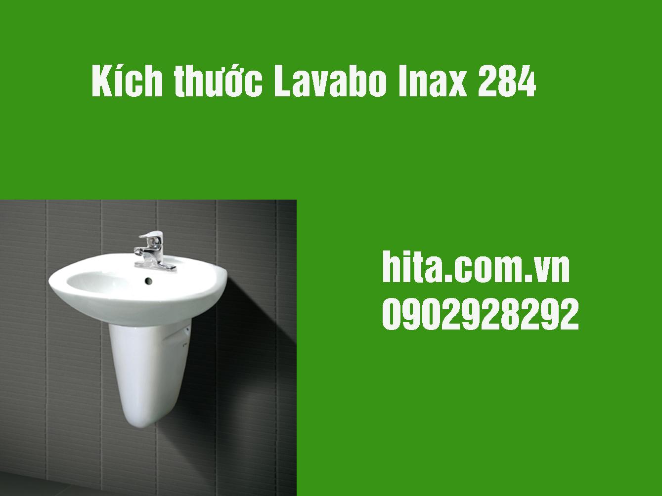Kích thước Lavabo Inax 284 giá gốc, bảo hành chính hãng 2018