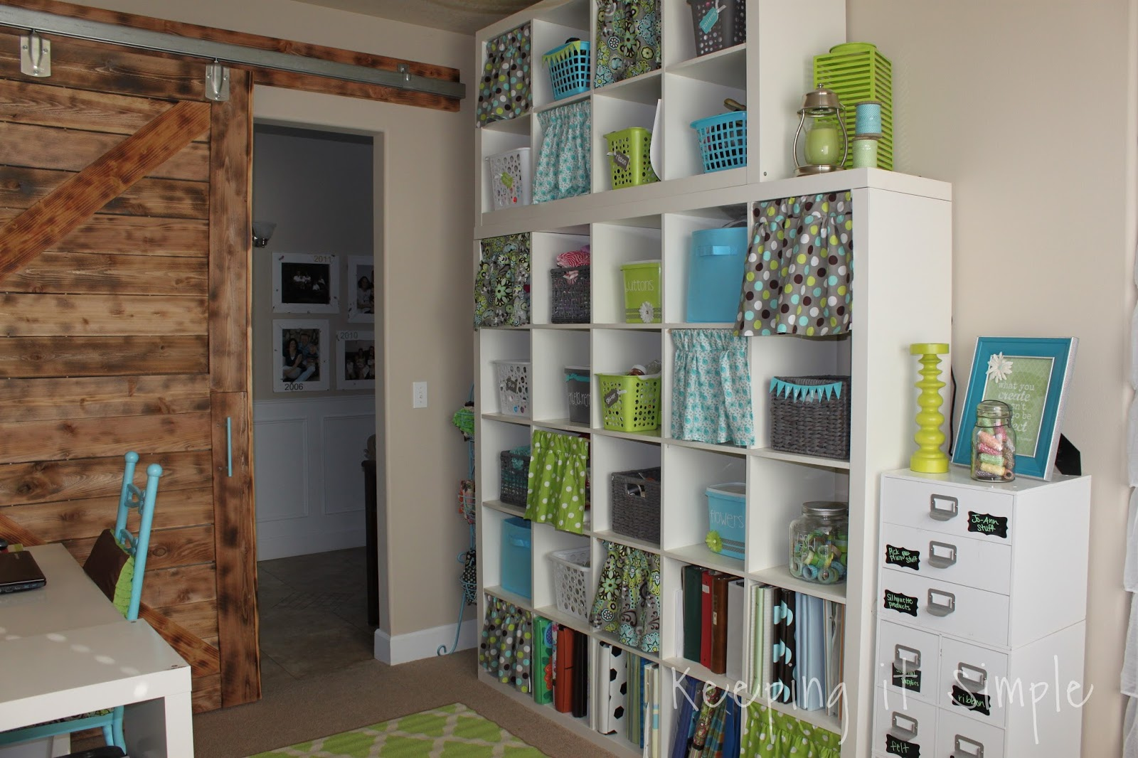 Storage For Craft Room: Keeping It Simple: Ikea Expedit Shelf In My Craft Room