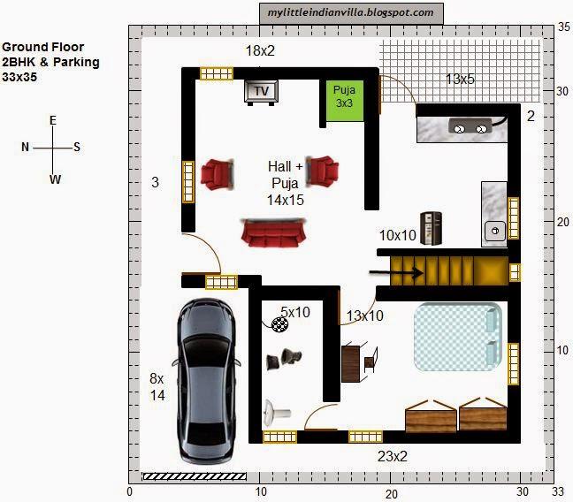 My Little Indian Villa: #38#R31 2BHK Duplex In 33x35 (West