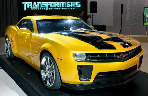 Chevy Camaro for powerful cars from movies