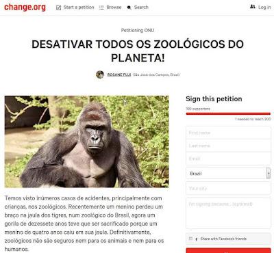 Os supostos 300.000 apoiadores do gorila...