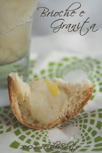 granita di limone e brioche col tuppo