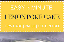 Easy 3 Minute Lemon Poke Cake