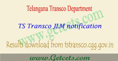 TSTransco JLM results 2018 merit list Manabadi download,Telangana Junior Lineman recruitment result 2018