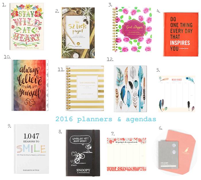 Valentina Vaguada: planners, agenda, 2016, goals, organize