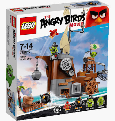 TOYS : JUGUETES - LEGO The Angry Birds Movie 75825 Barco Pirata de los Cerdos | Piggy Pirate Ship La Película - Movie | Piezas: | Edad: 7-14 años Comprar en Amazon España & buy Amazon USA
