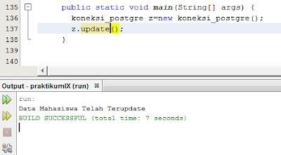 Kelas Informatika - Update Data PostgreSQL Berhasil