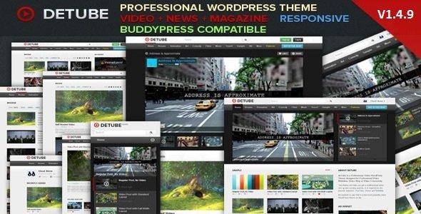 DeTube - Professional Video WordPress Theme Blog / Magazine