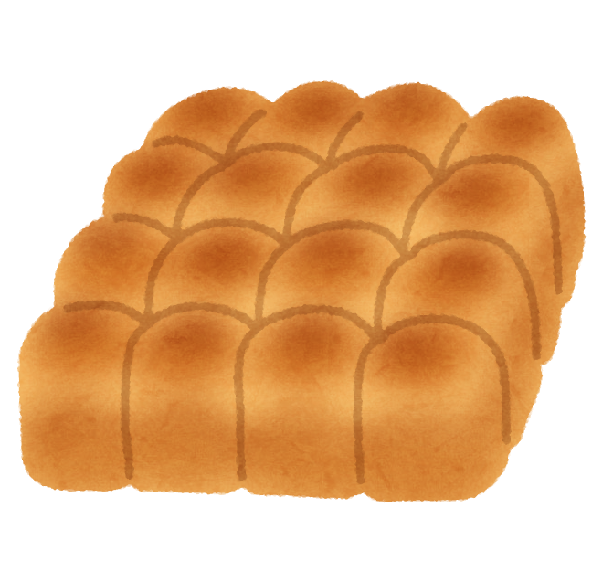 ちぎりパンのイラスト かわいいフリー素材集 いらすとや
