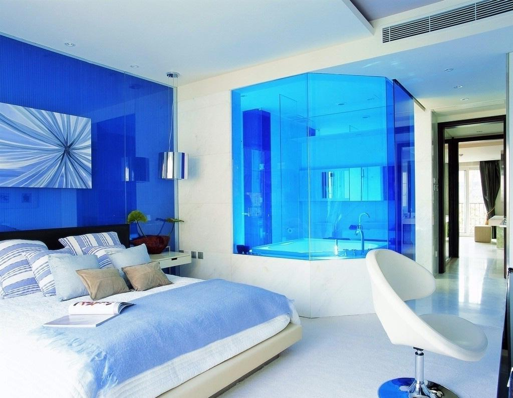 desain kamar tidur nuansa biru | kumpulan desain rumah