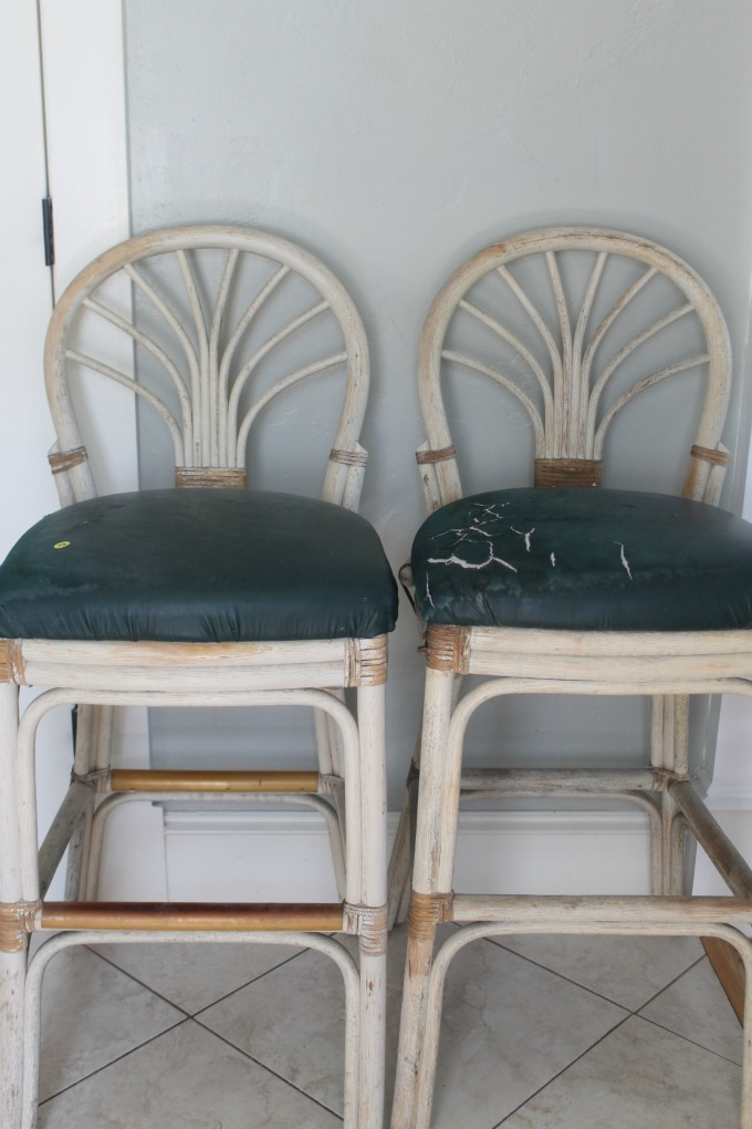 How to reupholster kitchen bar stools