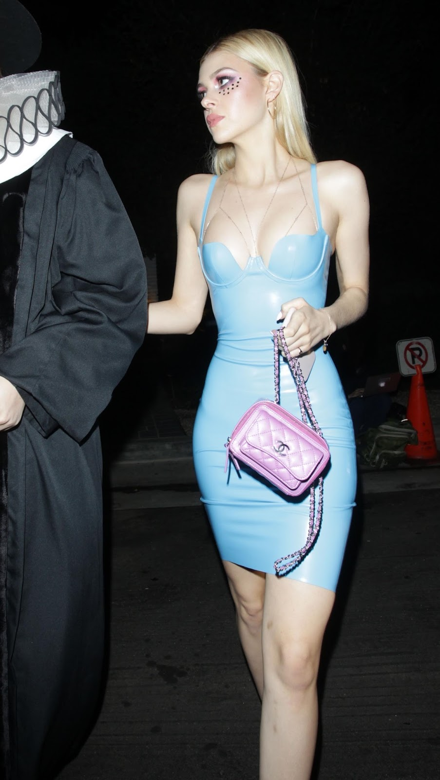 Holly Halston Latex for lovely ladies in leather: nicola peltz in a latex mini-dress