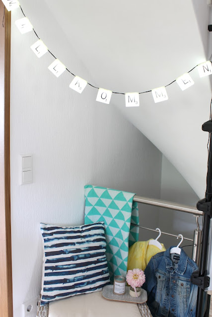 Kinderschuhe Garderobe Ordnung im Flur Raumgestaltung viivanno Rattan Korb Hocker Jules kleines Freudenhaus