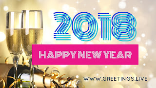 New year 2018 wishes in English Ultra HD Sparkling drinks