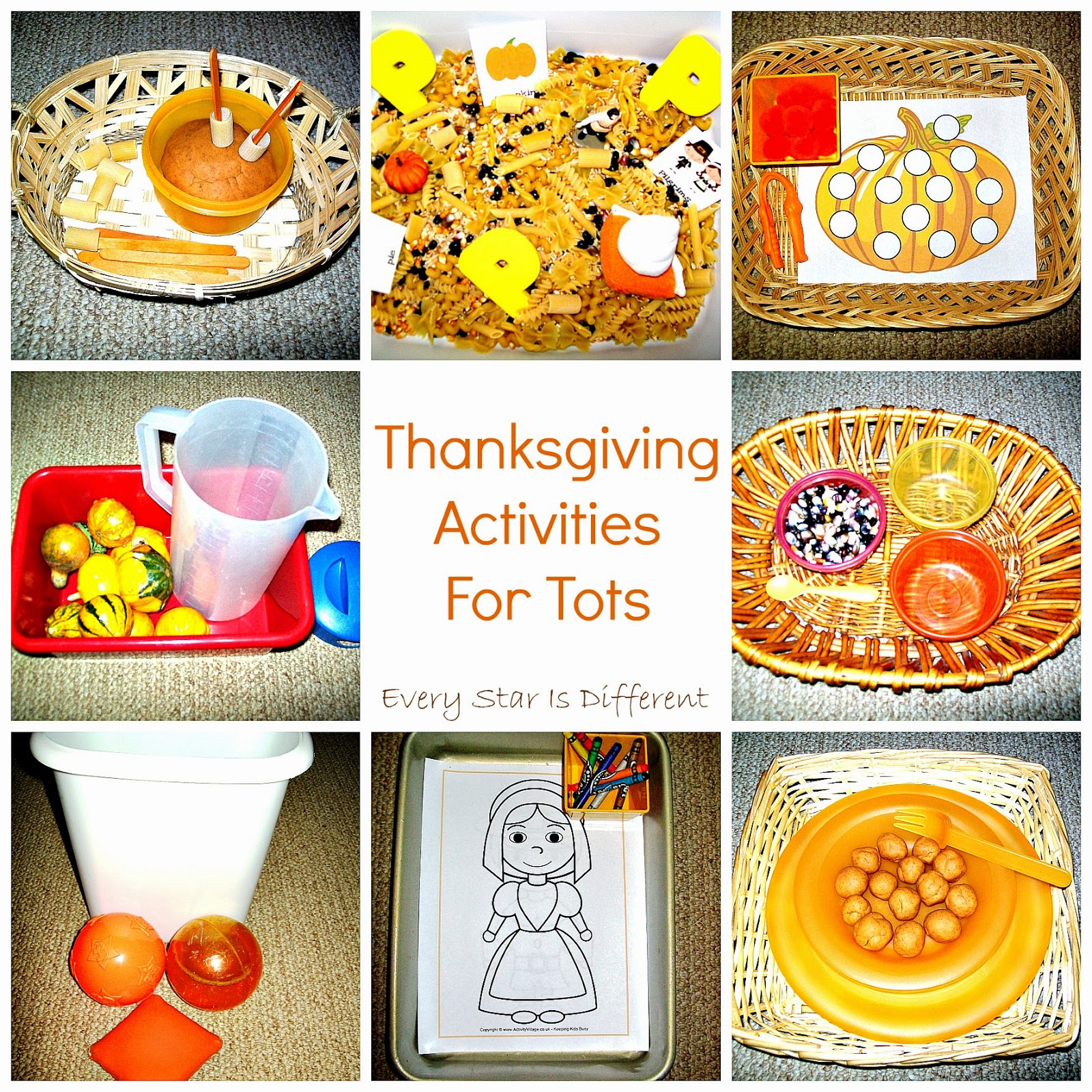 Thanksgiving Activities for Tots