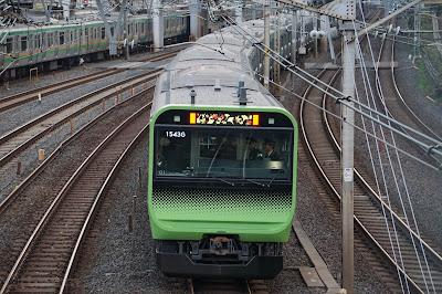 山手線E235系の最後尾