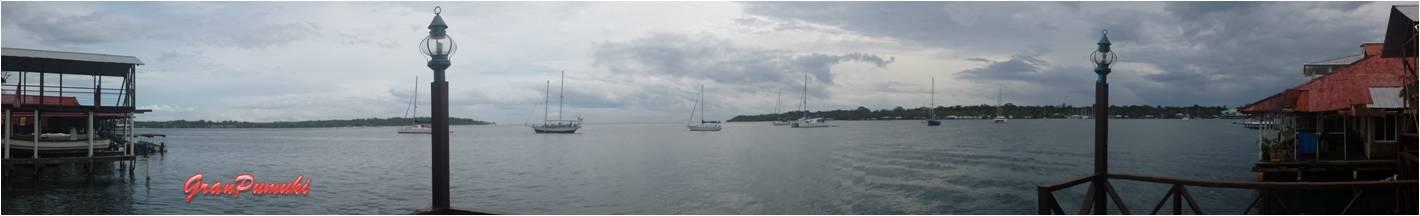 Panorámica desde la terraza del hotes en Bocas del Toro. En Blog de Viajes, Bocas del Toro con niños