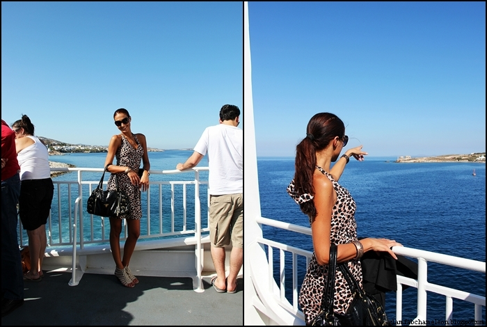 best outfits for traveling to Santorini and Cyclades