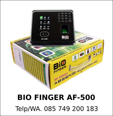 Penyedia Mesin Absensi Bio Finger AF-500 Asli