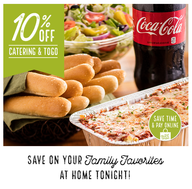 olive garden 10 off catering to go this weekend - Olive Garden Catering